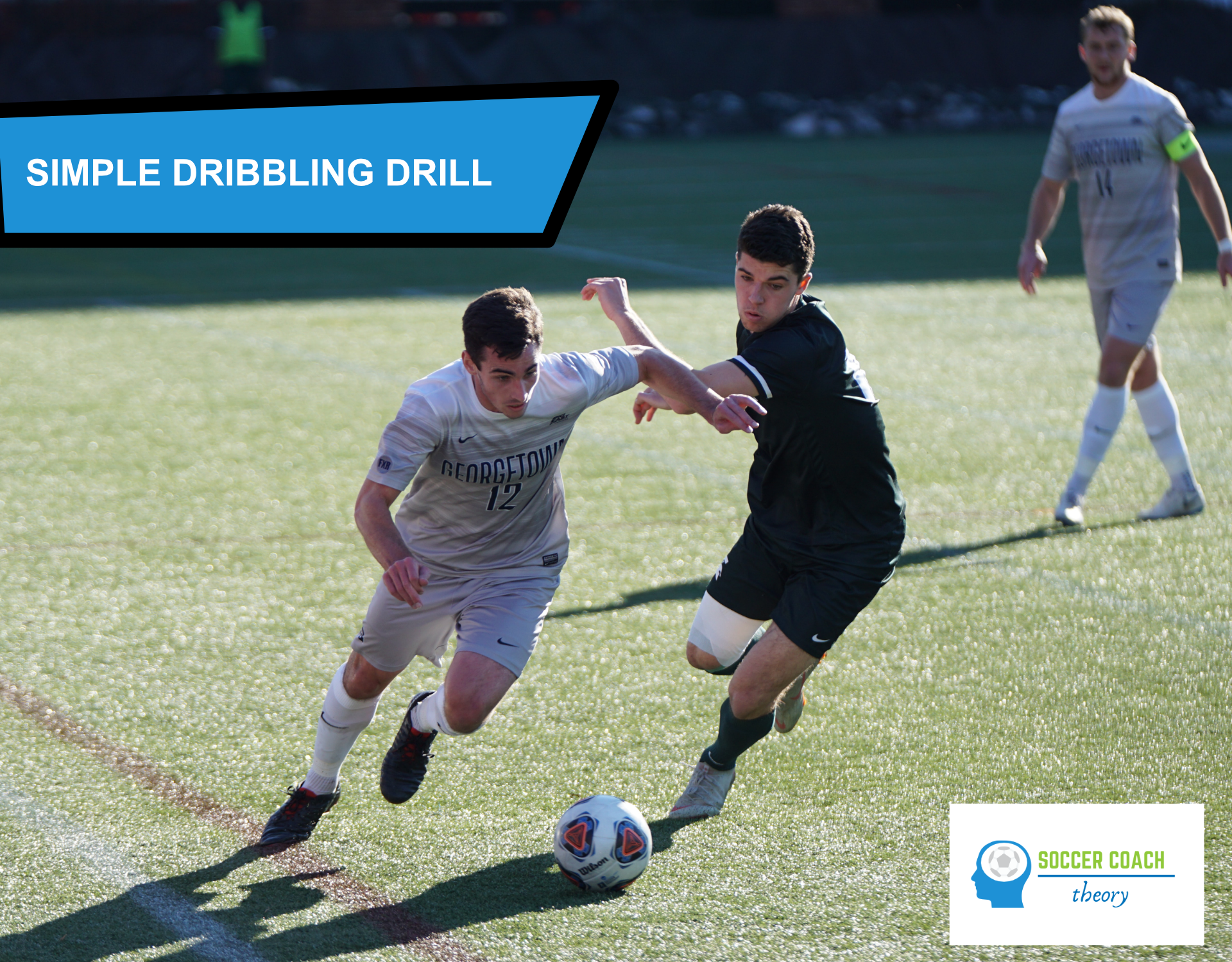 Soccer dribbling drill (simple) cover