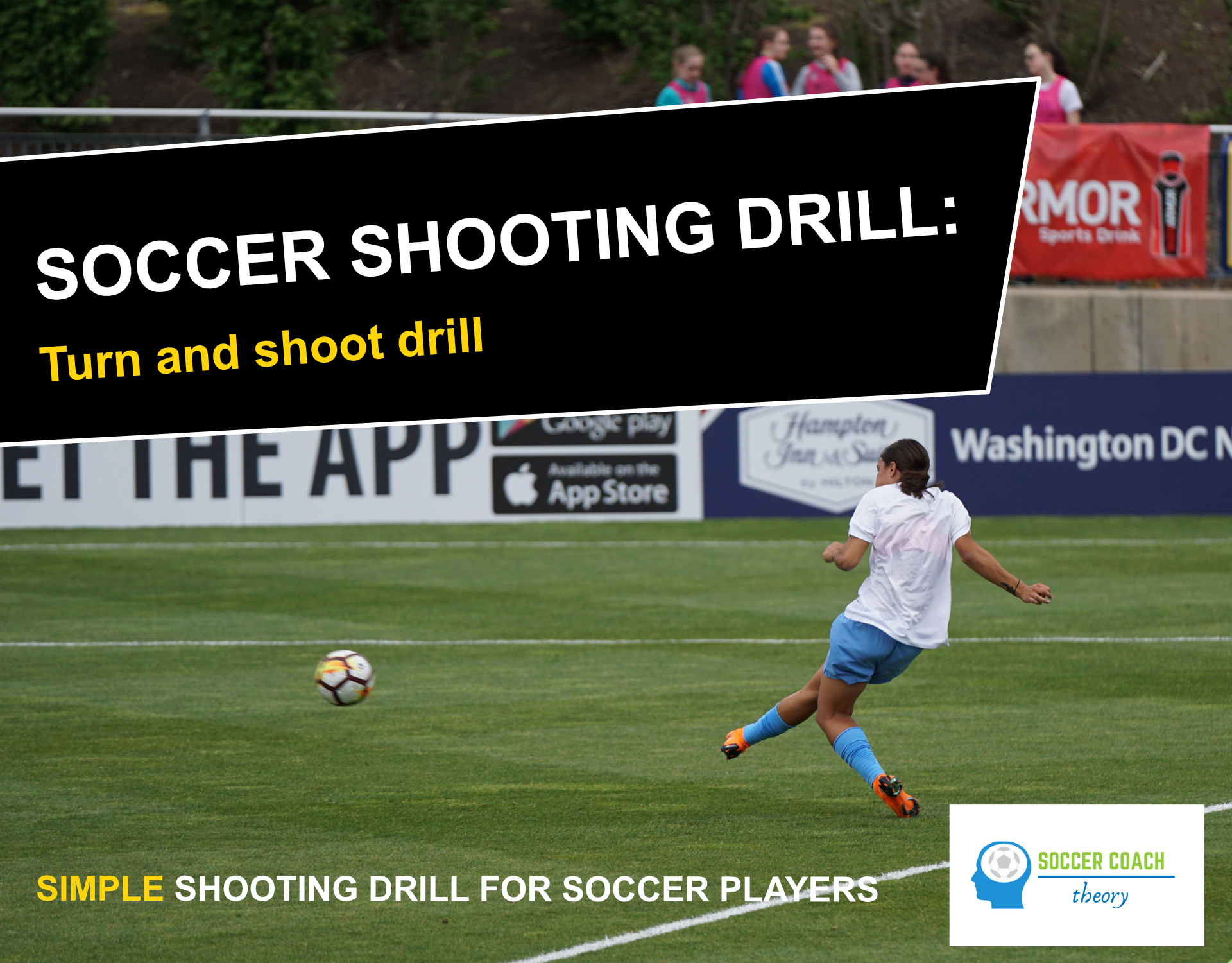 Soccer shooting turn and shoot drill