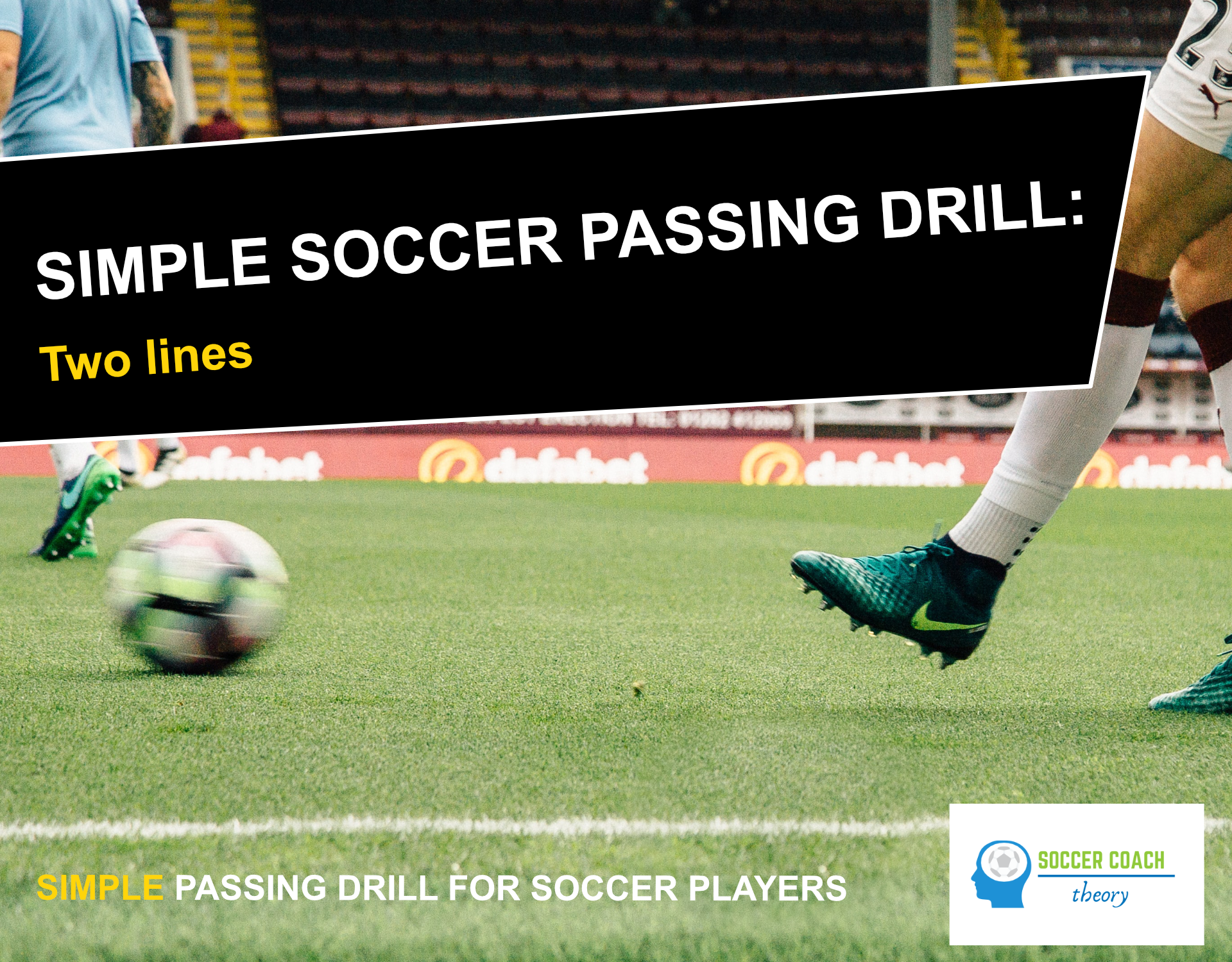 Simple soccer passing drill cover