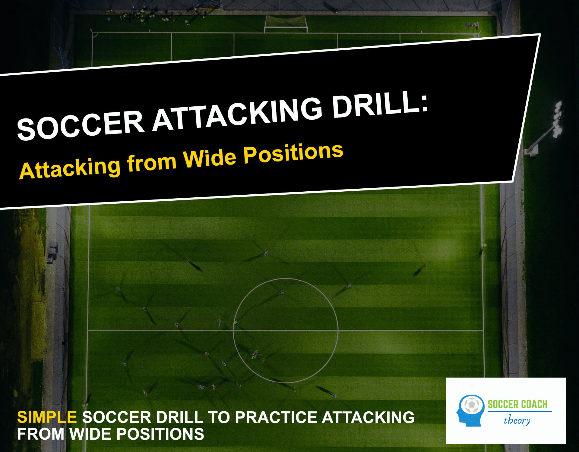Soccer drill attacking from wide positions