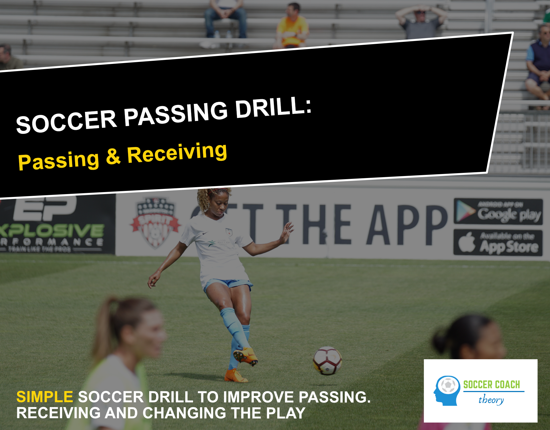 Soccer passing and receiving drill